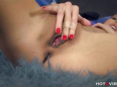 amateur, brunette, masturbation, orgasm, babe, beautiful, fingering, skinny, small tits, solo, trimmed