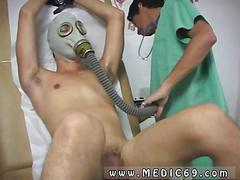 Twink bound and toyed by his doctor while wearing a gas mask