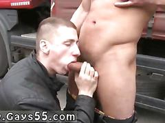 Studs hide behind a wall and fuck out in public