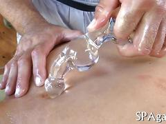Steamy hot anal drilling blowjob