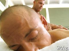 Oiled masseur toys a latin guys ass and fucks like crazy