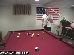 Gay teen sex anal an harmless game of pool abruptly turns into a steaming throating