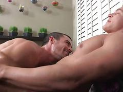 Hard anal sex deep fucking from behind