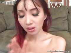 Alluring katsumi swallows big load of sperm