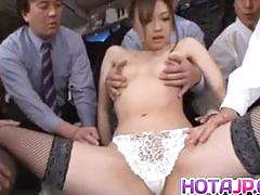Japanese amateur enjoys group fuck