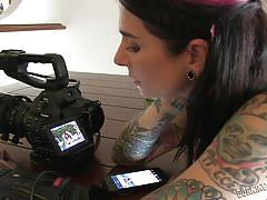 Behind the scenes of awesome alt chick porn