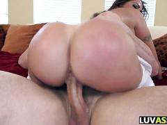 Big ass chick devastated with a big dick cock ride