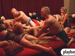 Horny couples swing and orgy in the playboy mansion