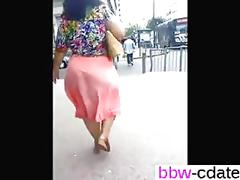 Slow motion matures big ass captured in public by a voyeur