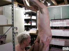 Swaps blowjob and fucks gay daddys anal