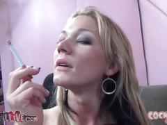 blonde, fetish, kink, smoking
