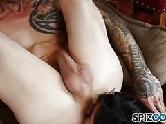 Double penetrating reena sky deep in the pussy...