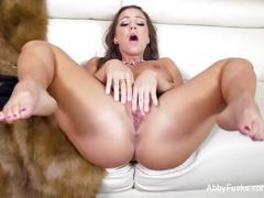 Abigail mac makes herself cum for the camera
