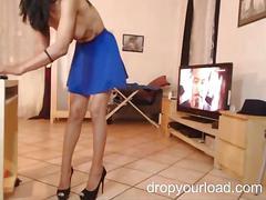 Petite cam girl teasing masturbation