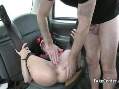 amateur, anal, hardcore, public, fucking, car, stockings, taxi