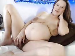 Busty slut has a hot time as she rubs it