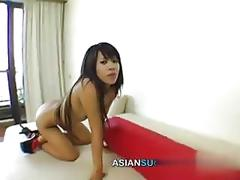 Tiny thai tart gets thumped by a white foreigner on camera