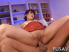 Her pussy gets fucked deep and hard