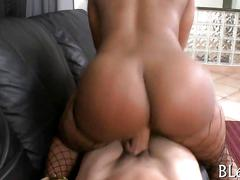 ass, black, blonde, ebony, hardcore, blowjob, fucking, big ass, fishnet, riding, stockings
