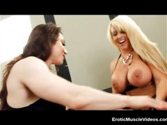 Eroticmusclevideos lesbian fbb muscles, huge amazon titties