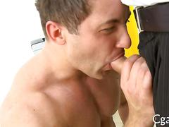 blowjob, muscle, anal, hardcore, sucking, casting, gay, hunk, office, stud