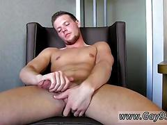Jerking that cock so the white stuff comes pouring out