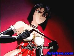 Tied hentai girl forced to fuck