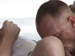 Unbeliveably hot fucking with shemale lover