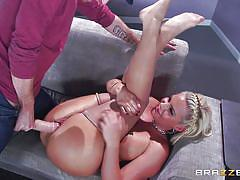 big ass, pornstar, busty, eating pussy, deep throat, big dick, blonde milf, on couch, porn stars like it big, brazzers, danny d, phoenix marie
