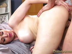 Danejones big boobs brunette pussy drip after creampie