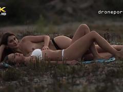 College school girls on the grass