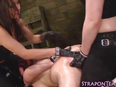 Fetish lesbians spanking