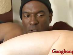 big cock, gangbang, interracial, blowjob