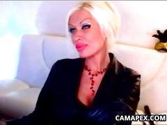 Dirty blonde milf smoking