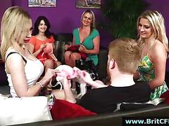 British cfnm girls put on striptease for amateur guy