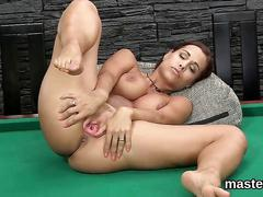 Czech redhead spreads and teases her trimmed snatch close up