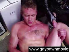 Straight does gay threesome for cash in pawn shop