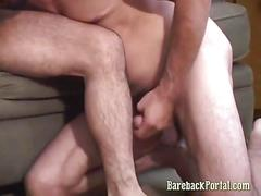 Couple of stud passion kissing