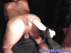 Kinky medical student plays with a hot twinks cock