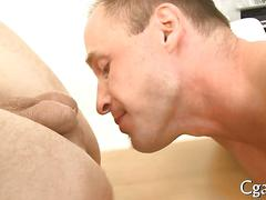 All out oral action and ass fucking with fit guys