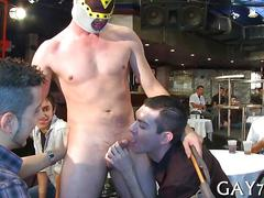 Sucking the stripper off who is a stallion