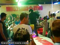 Gay club starts rocking and swinging with a striptease