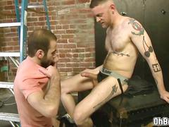 Gay swapping blowjobs and hard anal fuck