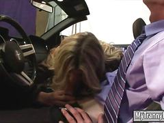 fucks guy, blonde, fucking, riding, shemale, tranny
