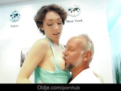 Pervert old geezer attilla is fucking debauched babe lily labeau