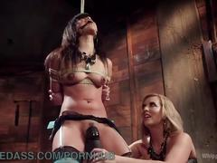 bondage, fetish, lesbian, whippedass, filipino, natural-tits, big-ass, girl-on-girl, bdsm, kink, lezdom, gagged, lingerie, stockings, dungeon, domination, strapon, fuck, spank, blonde