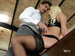 Sexy blonde jessie volt fucked hard in her chi...
