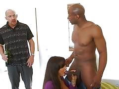 Mean wife lisa ann fucks bbc as her husband wa...