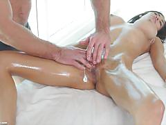 Getting into oiled up brunette shay evans