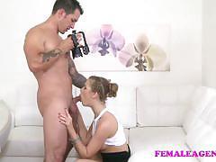 Seductive babe rides this hard dick